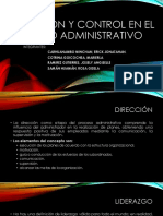 Dirección y Control en El Proceso Administrativo