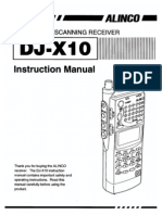 Alinco DJ-X10 Instruction Manual