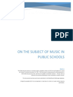 On the Subject of Music in Public Schools