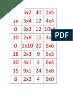 Domino Multiplicación