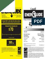 Kitchen Aid Fridge Energy Guide_EN