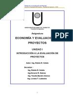 ECONOMIA Y EVALUACION DE PROYECTOS