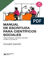 Becker - Manual de escritura para científicos sociales