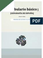 Vocabulario básico Geografía