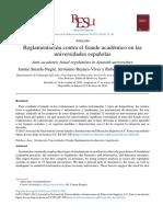 Reglamentacion Contra El Fraude Academico en Univ Españolas