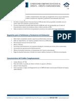 195 Condiciones Objetivas de Acceso Al Credito Credito Complementario
