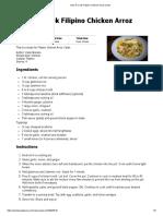 How to Cook Filipino Chicken Arroz Caldo