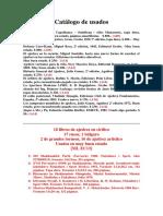 Catálogo de libros de ajedrez usados - Abril 2018
