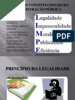 Slides sobre os princípios  da Administração Pública