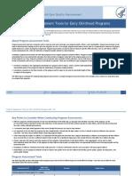 program assessment tools