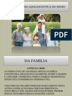 Slides -Da Familia, Do Adolescente e Do Idoso