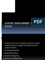 SYSTEM DEVELOPMENT LIFE CYCLE