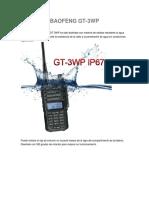 Especificacion GT 3WP