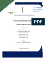 Procesos de Manufactura II - Procesos de deformacion plastica