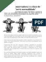 ARTIGO - A Onda Conservadora e o Risco de Uma Nova Normalidade.reginaldo Moraes -UNICAMP