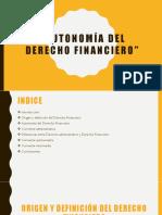 Autonomía Del Derecho Financiero