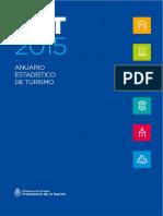 MINTUR-YVERA-Estadistica-Anuario Estadístico de Turismo 2015