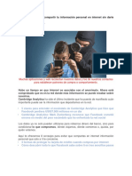 8 Consejos Para No Compartir Tu Información Personal en Internet Sin Darte Cuenta