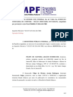 Denúncia do MPF-PR contra o jornalista Felipe de Oliveira