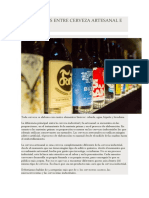 Diferencias Entre Cerveza Artesanal e Industrial