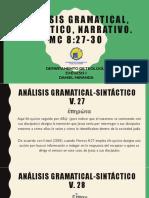 Análisis Gramatical, Semántico, Narrativo