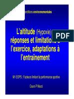 Altitude Et Limite de l Exercice 2013