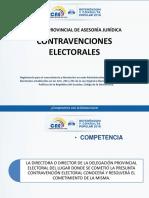 Contravenciones Electorales - Referendum y Consulta Popular 2018