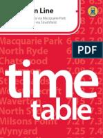 Northern Line Timetable