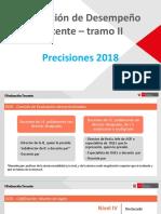 Evaluacion de Desempeño Docente 2018 - Tramo II