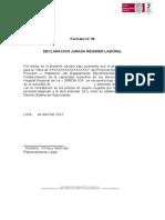FORMATO 06- Cumplimiento de Regimen Laboral