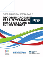 2013 Recomendaciones Tratamiento Temas Salud Mental Medios