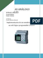 Implementación de un semáforo usando un relé lógico programable LOGO 8
