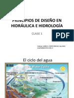 Clase 1 Principios de Diseño en Hidráulica e Hidrología
