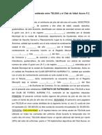 Contrato de patrocinio celebrado entre TELGUA y el Club de fútbol Aurora F.docx