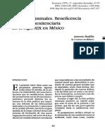 Antonio Padilla_Pobres y Criminales. Beneficencia y Reforma Penitenciaria en El Siglo XIX en Mexico
