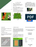 El Futbol y Voley Triptico