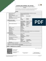 Certificado Único de Declaracion Jurada de Bienes y Rentas