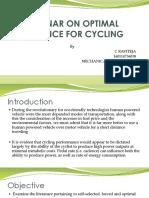 Seminar on Optimal Cadence for Cycling