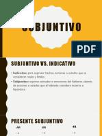 powerpoint sobre el subjuntivo