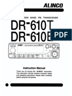 Alinco DR-610 Instruction Manual