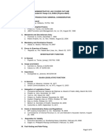 Administrative Law Course Outline