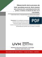 Diferenciación de los procesos de enseñanza aprendizaje presencial, virtual y.pdf