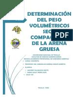 Determinación Del Peso Volumétricos Seco Compactado de La Arena Gruesa