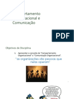 Aula 01 Comportamento Organizacional e Comunicação