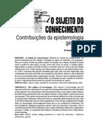 6_o Sujeito Do Conhecimento Contribuições Da Epistemologia Genética