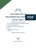 Historia de La Mecanización Agrícola en El Perú
