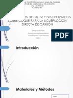 Artículo, Catalizadores de Co, Fe y Ni Soportados Sobre Coque Para La Licuefacción Directa de Carbón