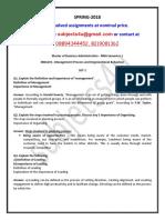 MBA101– Management Process and Organizational Behaviour