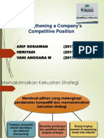 5,6 Strengthening a Company's Competitive Position
