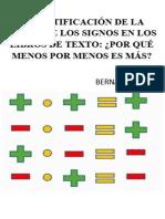 La Justificacion de La Regla de los signos - Bernardo Gomez